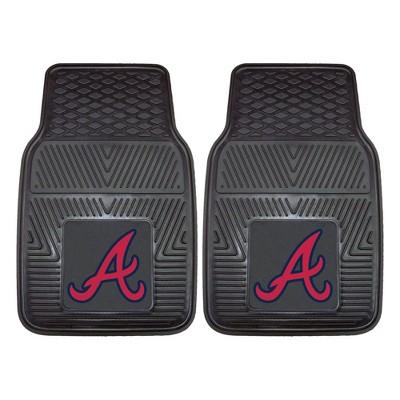 MLB Atlanta Braves Vinyl Car Mat Set - 2pc