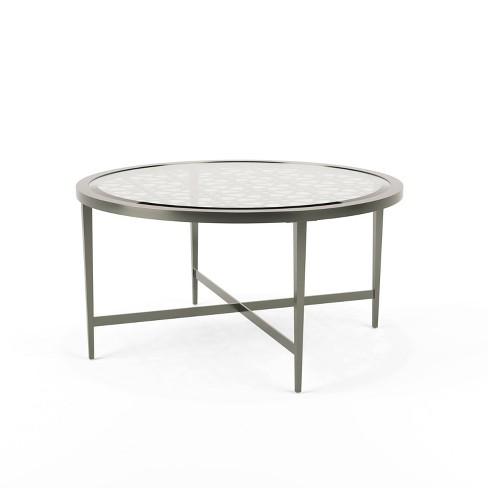 Harding X Shaped Base Coffee Table Silver Mibasics Target