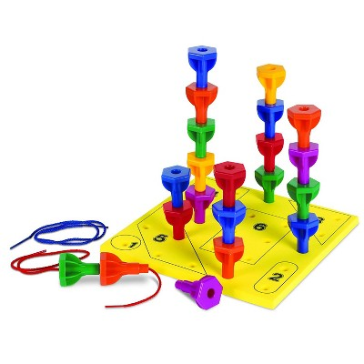 Learning Resources Rainbow Peg Play Fine Motor Activity Set