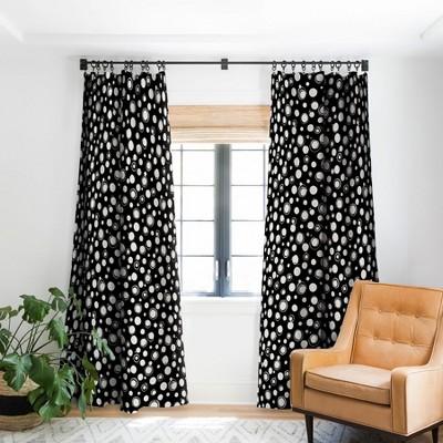 Ninola Design Polka Dots WB Single Panel Blackout Window Curtain - Deny Designs