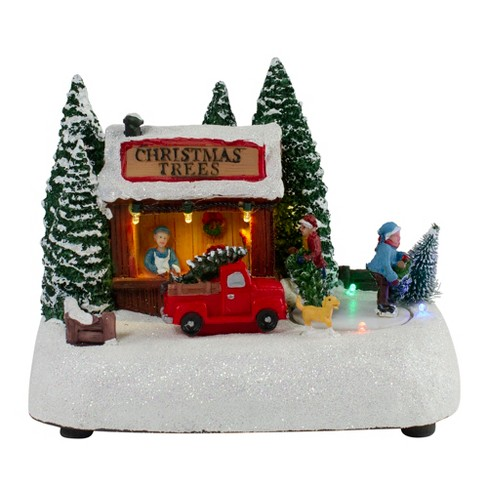 """Northlight 8"""" LED Lighted and Musical Christmas Village Tree Shop Table Top Decoration - Pre-Lit - image 1 of 4"""