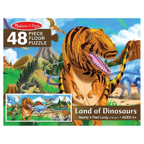Melissa And Doug Land Of Dinosaurs Floor Puzzle 48pc - image 1 of 3