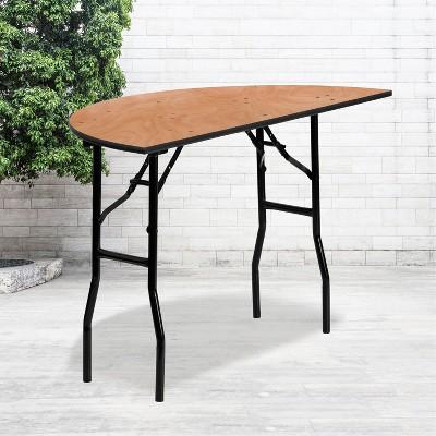Flash Furniture 4-Foot Half-Round Wood Folding Banquet Table