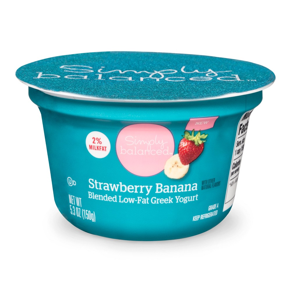 Strawberry Banana 2% Greek Yogurt - 5.3oz - Simply Balanced