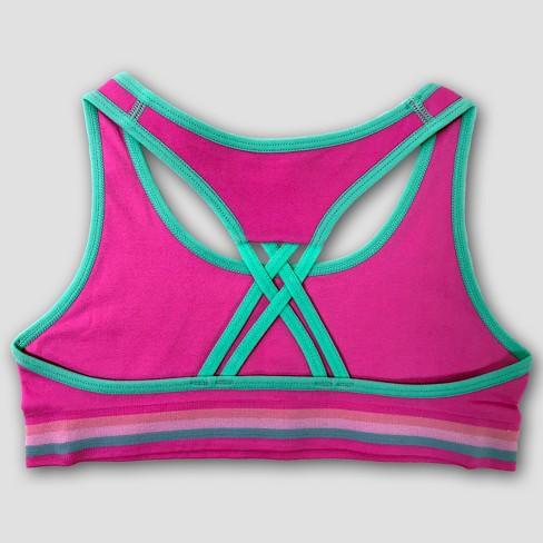 Girls  Donut Print 2pk Sports Bra - Pink Teal   Target f792893c5b2c
