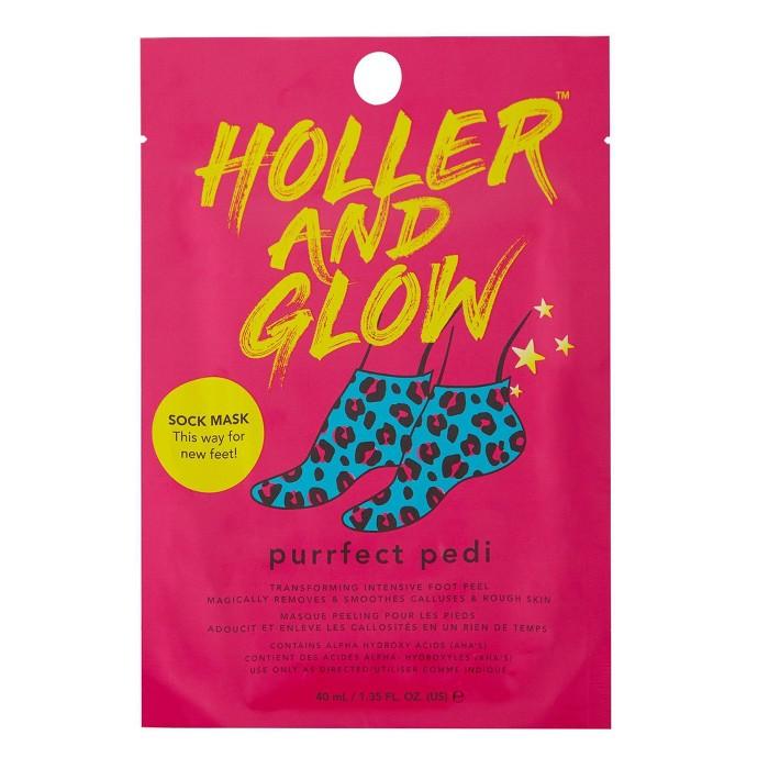 Holler And Glow Purrfect Pedi Foot Mask - 1.35 Fl Oz : Target