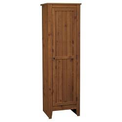 Hagar Single Door Storage Pantry Cabinet Pine - Room & Joy