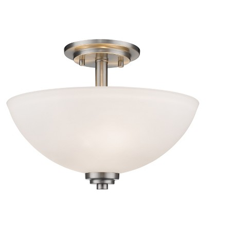 Semi Flush Mount Ceiling Lights with Matte Opal Glass (Set of 3) - Z-Lite - image 1 of 1