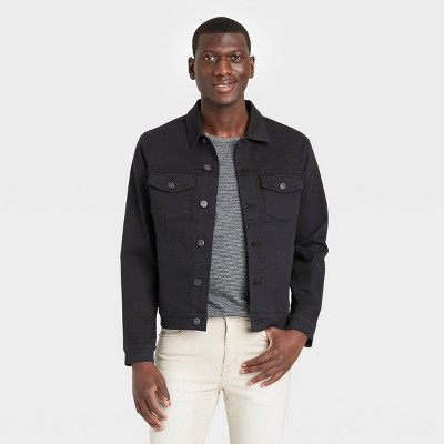Men's Denim Trucker Jacket - Goodfellow & Co™ Black