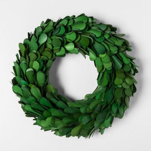 """11"""" Dried Palm Lily Wreath Green - Smith & Hawken™ - image 1 of 1"""