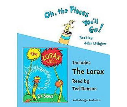 Oh, the Places You'll Go! / The Lorax (Unabridged) (CD/Spoken Word) (Dr. Seuss) - image 1 of 1