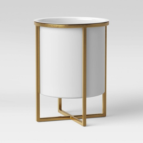Iron Planter With Brass Stand White - Project 62™ - image 1 of 2