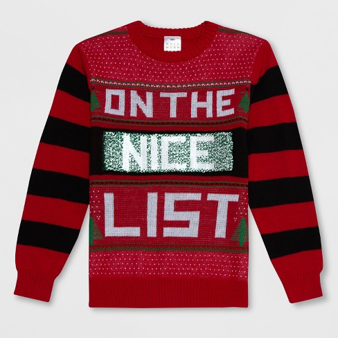 Well Worn Boys Flip Sequins Ugly Christmas Sweater Red Target