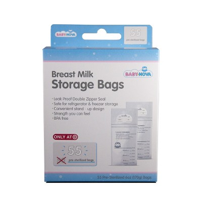 Baby Nova Breast Milk Storage Bags - 55ct