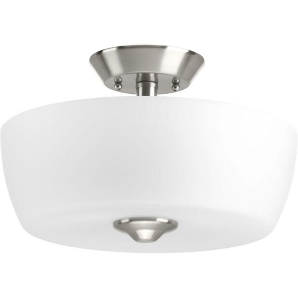 Progress Lighting P350060 Leap 2 Light 14 Wide Semi Flush Bowl Ceiling Fixture