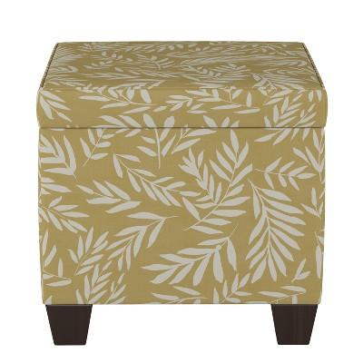 Fairland Storage Ottoman Golden Leaf Print - Threshold™