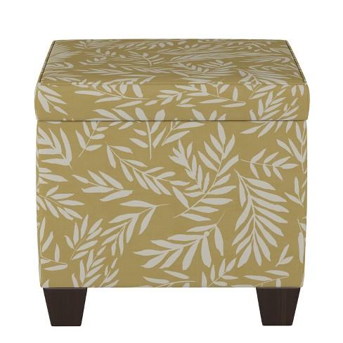 Fairland Storage Ottoman Golden Leaf Print - Threshold™ - image 1 of 4