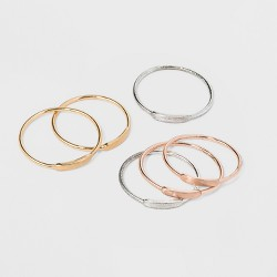 Delicate Smooth Bar Ring Set 6pc - Universal Thread™