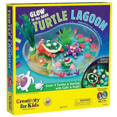 Creativity For Kids Glow In The Dark Turtle Lagoon Activity Kit