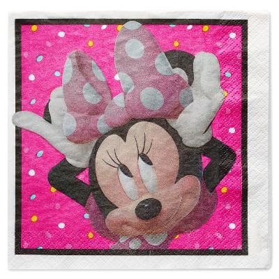 Minnie Mouse 16ct Paper Napkins Disposable Kit - Disney