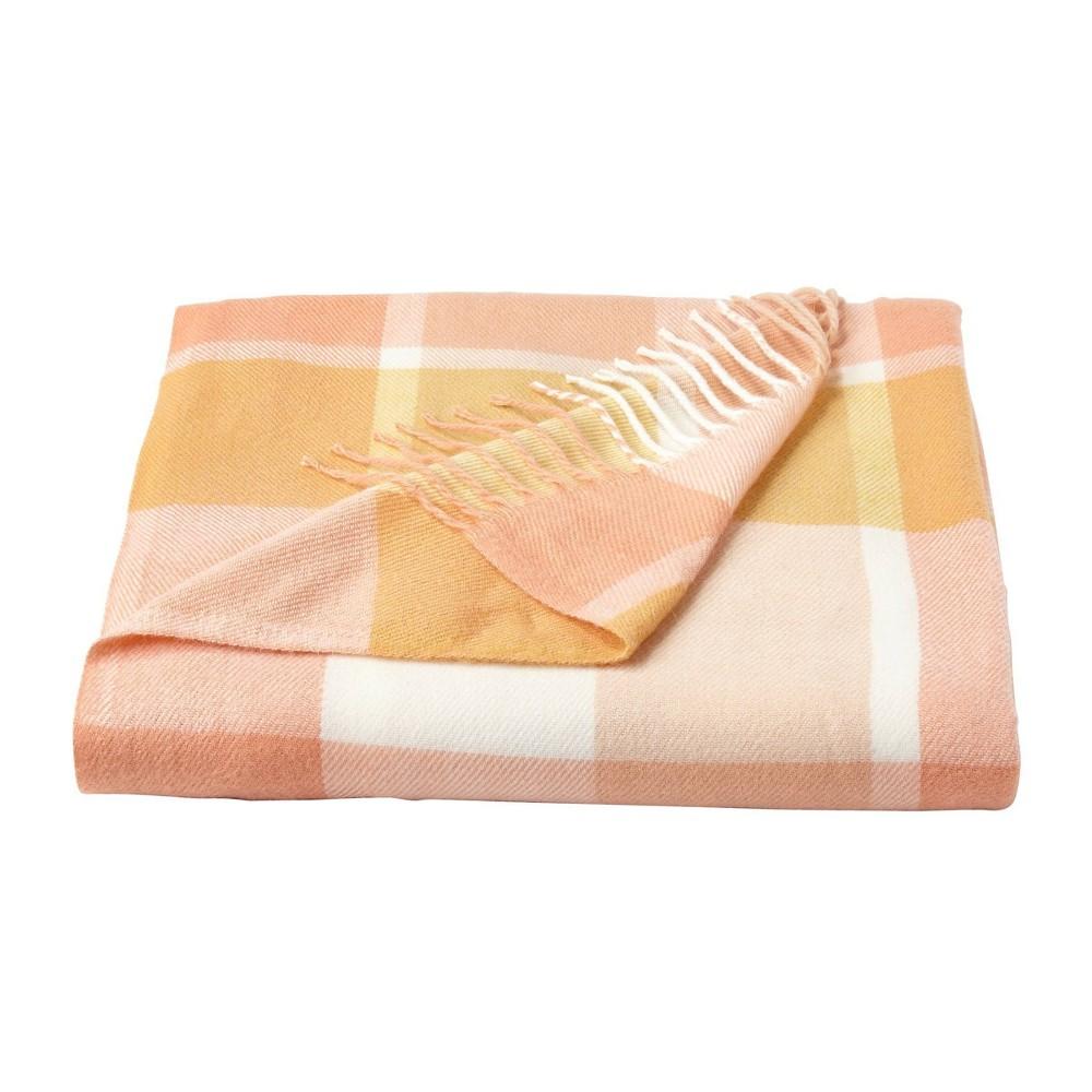 60 34 X70 34 Breathable And Stylish Soft Dessert Plaid Throw Blanket Blush Yorkshire Home