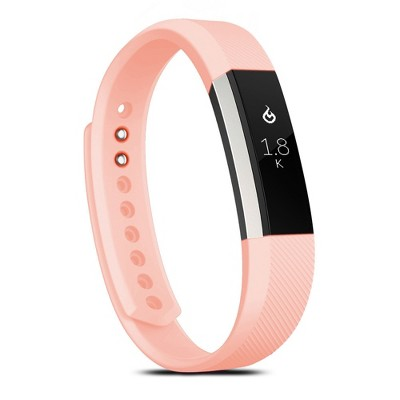 Zodaca For Fitbit Alta - Large L Size TPU Rubber Wristband Replacement Sports Watch Wrist Band Strap w/ Clasp - Pink