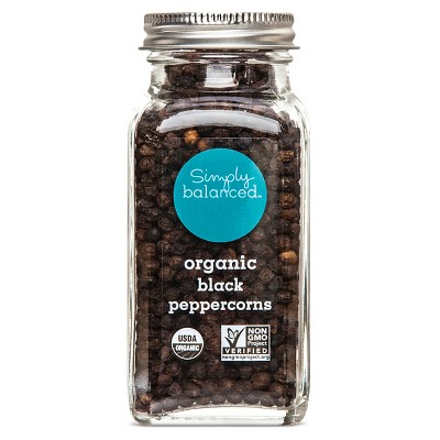 Organic Black Peppercorn - 2.89oz - Simply Balanced™