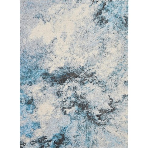 Abs04 Blue White Gray Indoor Area Rug