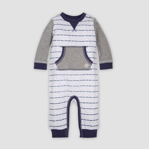 6a82c2d0a Burt s Bees Baby® Organic Cotton Boys Stripe Pocket Coverall - White ...
