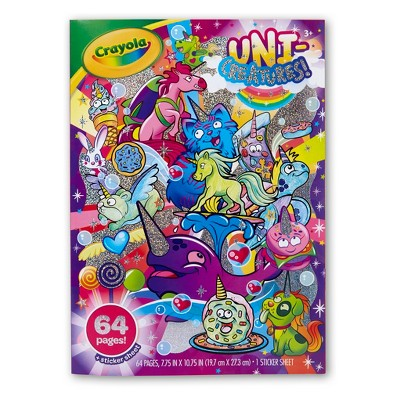 - Crayola Uni-Creatures Coloring Book + Sticker Sheet : Target