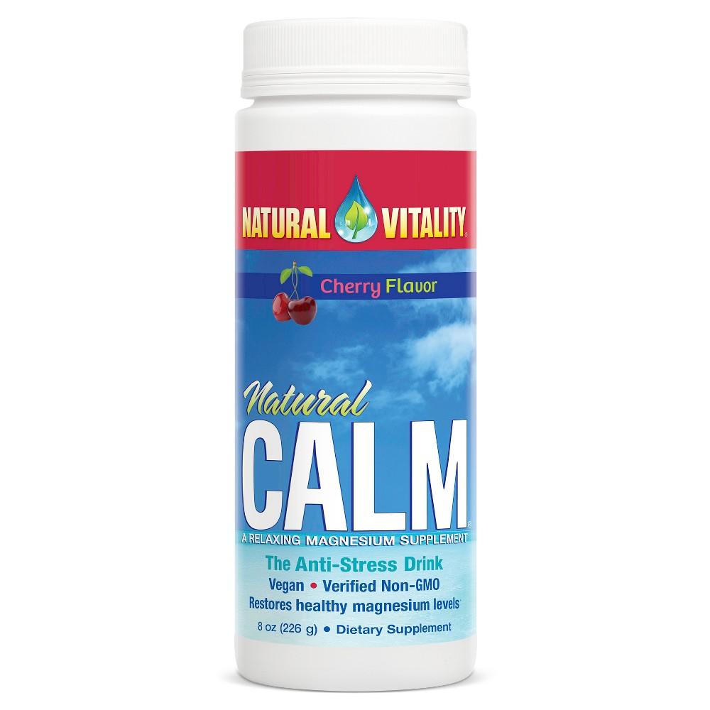 Natural Vitality Natural Calm Anti-Stress Magnesium Supplement Powder - Cherry - 8oz