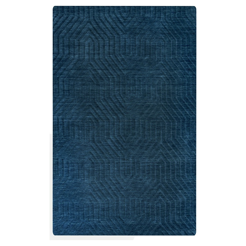 9'X12' Solid Area Rug Navy (Blue) - Rizzy Home