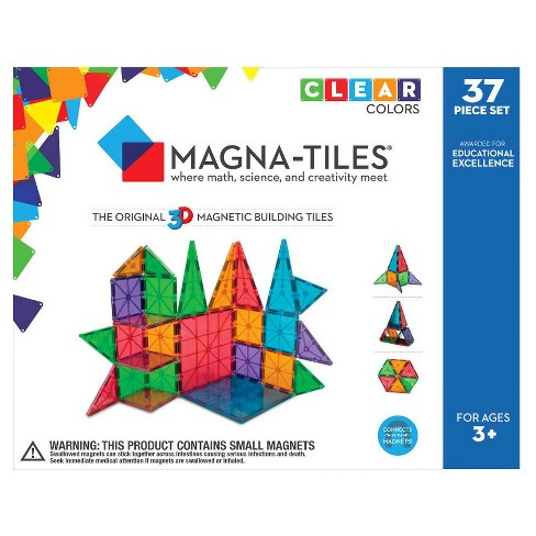 MAGNA-TILES Clear Colors 37pc Set - image 1 of 6