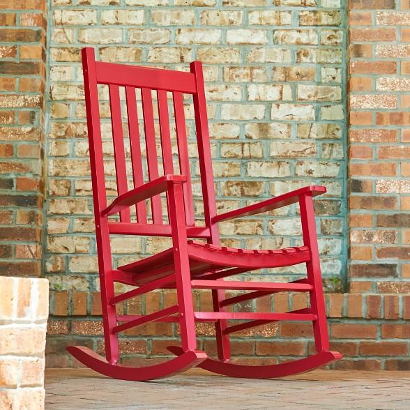 Super Vermont Porch Rocker Red Shine Company Inc Pabps2019 Chair Design Images Pabps2019Com