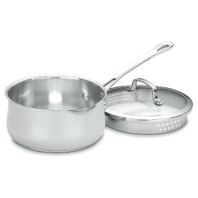 Cuisinart Contour 2qt Stainless Steel Pour Saucepan with Straining Cover - 419-18P