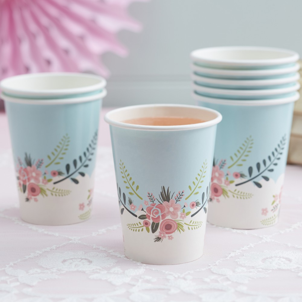 Image of 8ct Floral Fancy Paper Cups