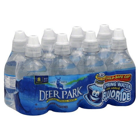 Deer Park Brand 100% Natural Spring Water Fluoride - 8pk/8 fl oz Mini Bottles - image 1 of 1