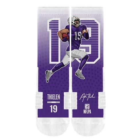 751b83a1 NFL Minnesota Vikings Adam Thielen Premium Socks - M/L