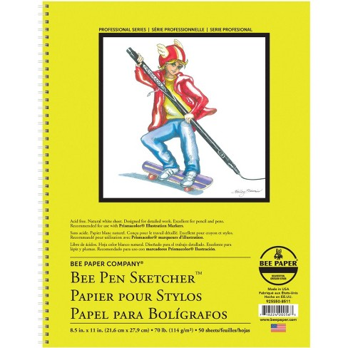 Bee Paper Pen Sketcher Pad, 8-1/2 x 11 Inches, 70 lb, 50 Sheets - image 1 of 1