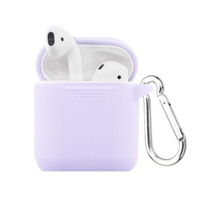 Valor Silicone Case Cover w/ Hookups & Airpods Strap compatible with Apple AirPods1/2, Purple