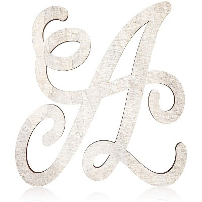 Rustic Wood Monogram Letter A (13 in.)