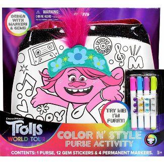 Trolls World Tour Color N' Style Purse Activity Kit
