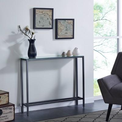 Dillard Narrow Console Table Gray - Aiden Lane