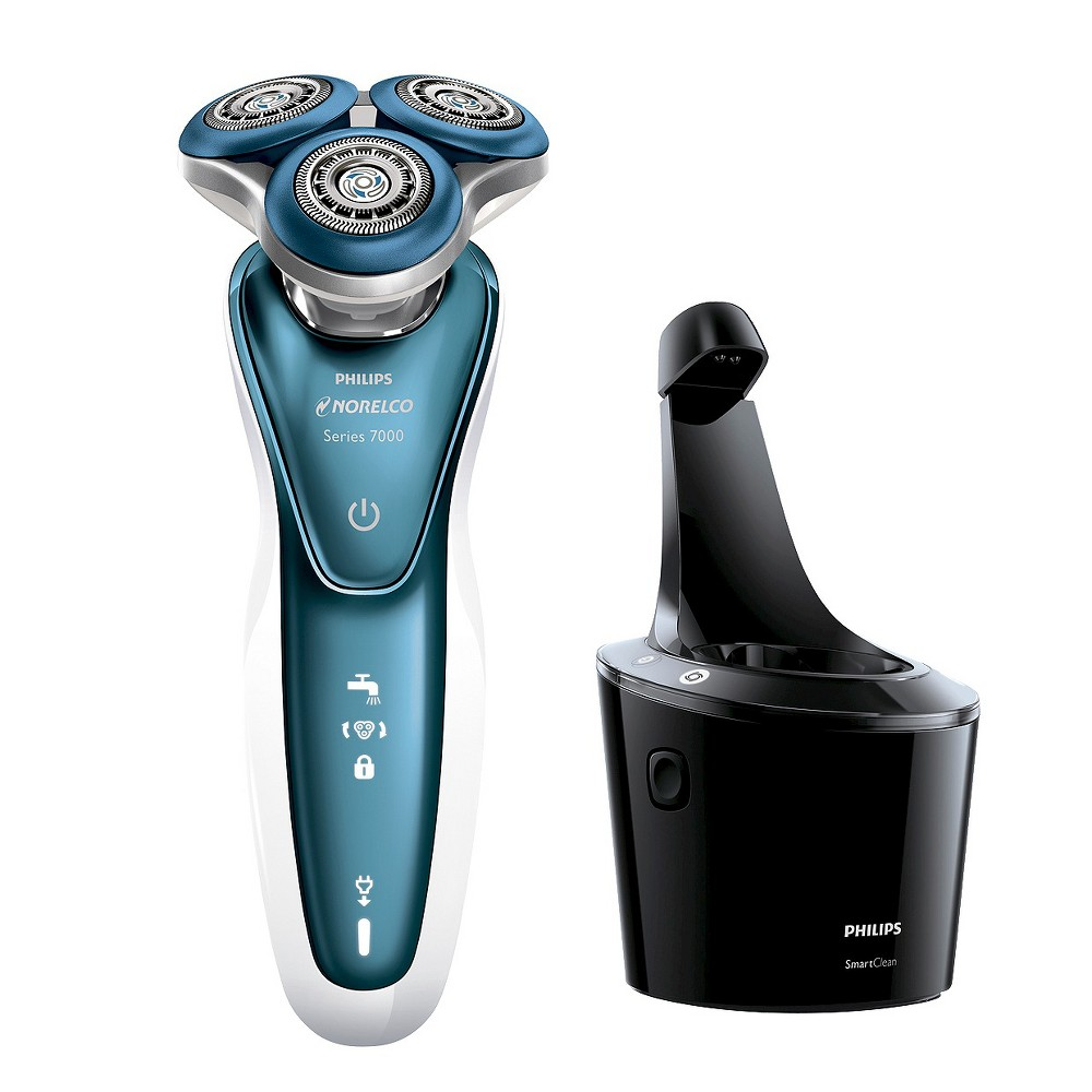 Image of Philips Norelco 7500 for Sensitive Skin Wet & Dry Men's Rechargeable Electric Shaver - S7371/84