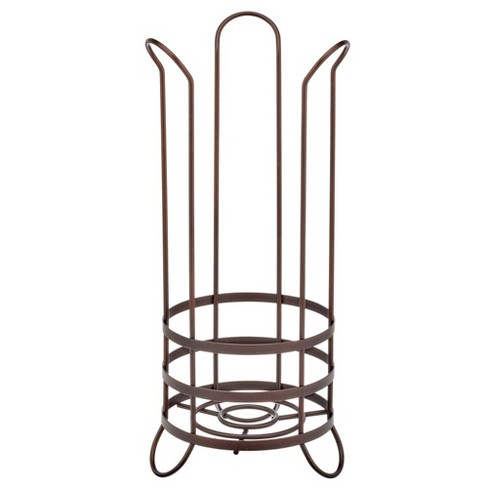 mDesign Metal Toilet Paper Holder Stand - Storage for 3 Rolls - image 1 of 4