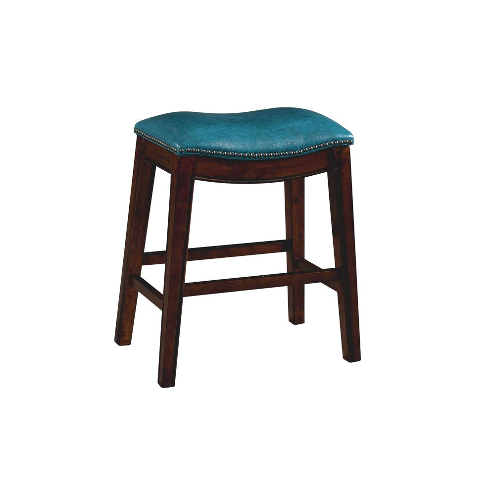 Image of 1pc Bowen Backless Counter Stool Blue - Picket House Furnishings