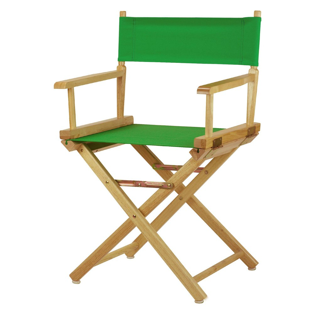 Director S Chair Canvas Green Natural Flora Home