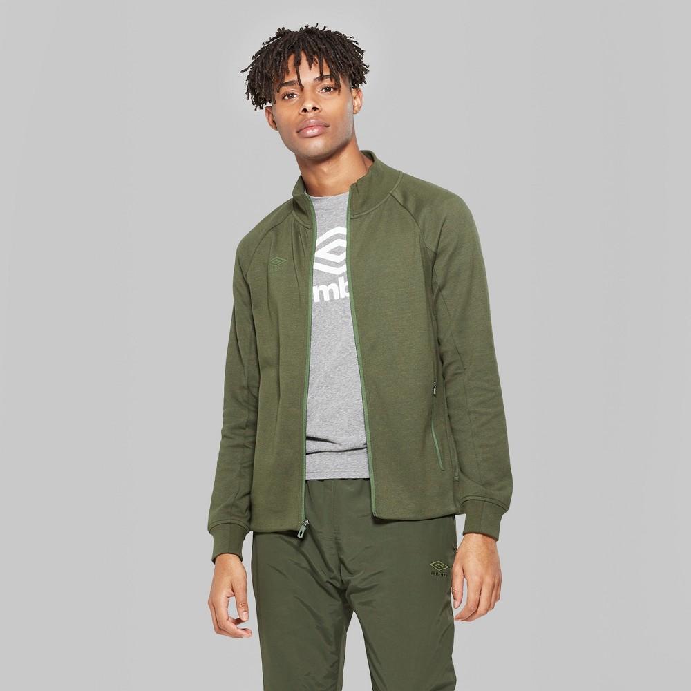 Umbro Men's Fleece Bomber Jacket - Bronze Green XL