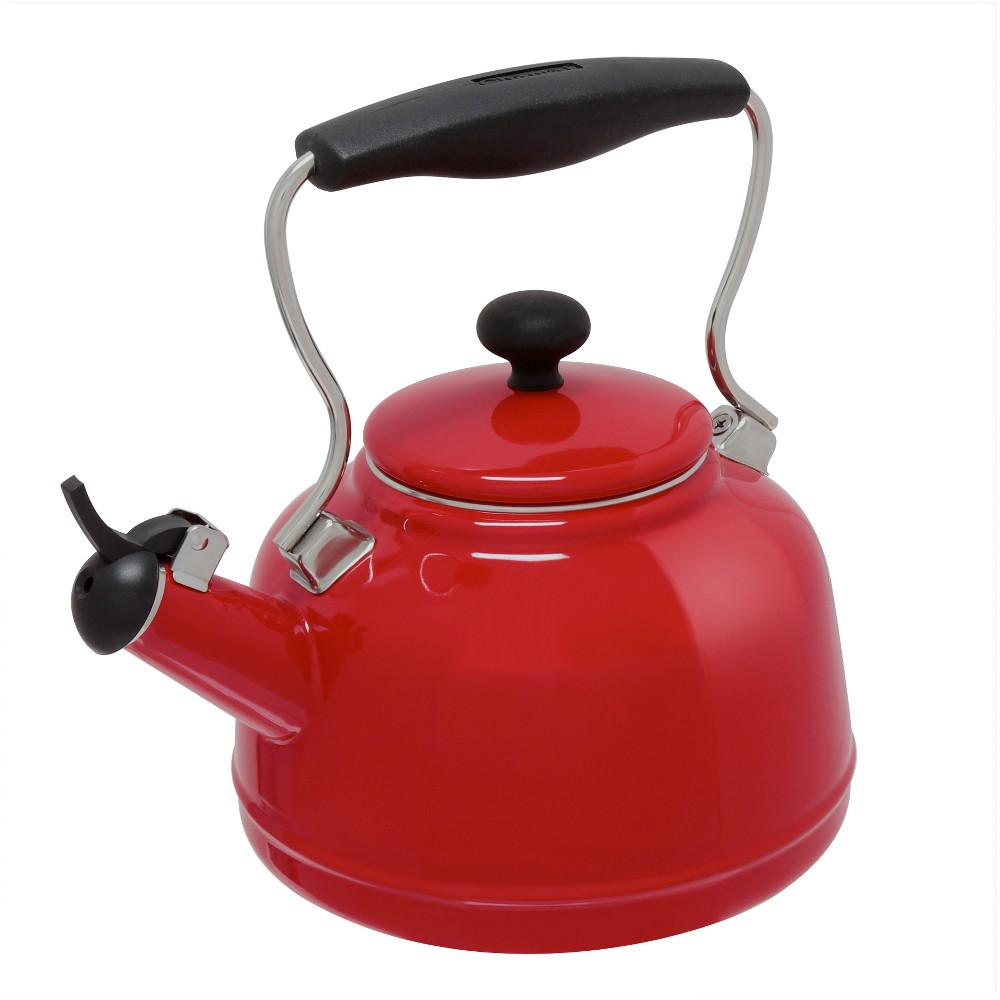 Image of Chantal 2 Qt. Vintage Stovetop Tea Kettle - Red