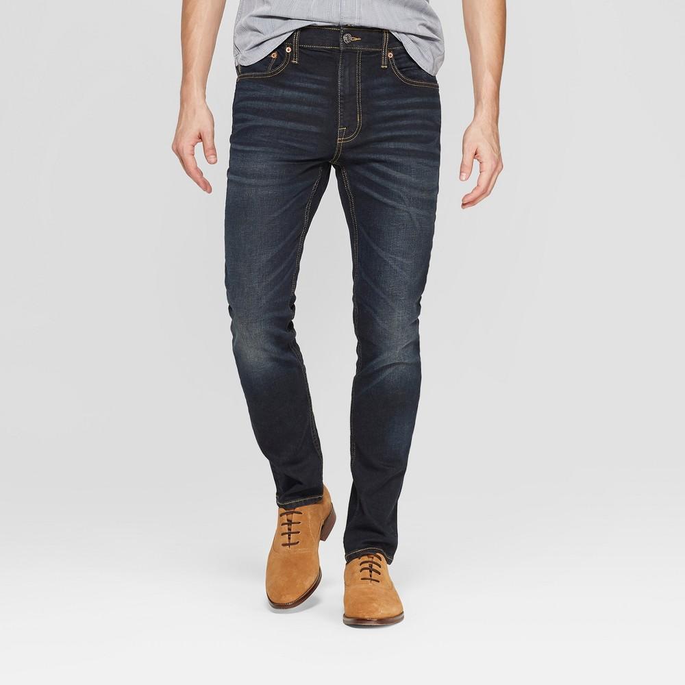 Men's 30 Skinny Fit Jeans - Goodfellow & Co Dark Gray 28x30